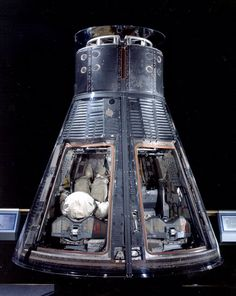 Today in 1965: Astronauts Frank Borman and James A. Lovell Jr. lifted off aboard this Gemini VII capsule. Their primary mission was to show that humans could live in weightlessness for 14 days, an endurance record that stood until 1970. / Image credit: Smithsonian National Air and Space Museum