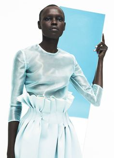 philoclea:  Grace Bol by Markus Pritzi for Marie Claire US, March 2014