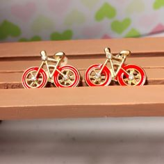 Cute bicycle fashion earrings New without tag. Super adorable earrings with bicycle rhinestone fashion shape. Jewelry Earrings