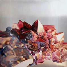 "Quartz by Stephanie Calvert ~ oil on aluminum, 46x46"", 2008"