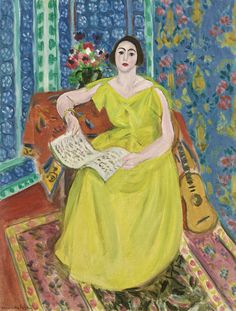 Henri Matisse The Woman in Yellow 1923 Oil on canvas 25 ¾ by 19 7/8 in. 65.5 by 50.5 cm
