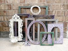 I find so many shapes n sizes at the thrift store for less than $3. Love shabby chic frames