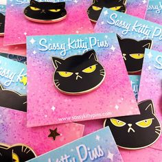 Double tap if you love black cats! Do you have a black kitty of your own? 💙❤💛 We're running low on Negini pins, get them now! Shop link in description!  #sassykittypins #pin #enamelpin #lapelpin #flair #blackcat #pingame #creative #process_of_creativity #accessories #bling #fashion #cutefashion #cat #blackcat #artoftheday #pintrill #kawaii #cute #colorful #supportartists #shopsmall  #pincollector #pinstagram #pingame #pinlife #pincommunity #pinoftheday #pinwishlist #pinaddiction #kawaiipin