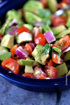 Avocado Salsa Recipe | ©addapinch.com