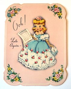 Vintage Birthday Card LOL. Why are all vintage birthday cards so cute and strange at the same time?