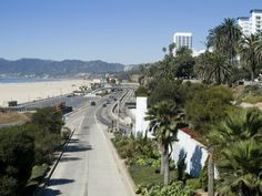 Pacific Coast Highway California | Pacific Coast Highway, Santa Monica, California, USA Stampa ...
