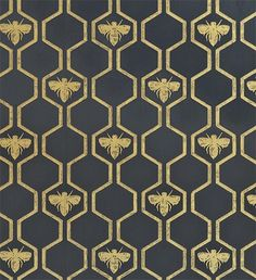 Wallpaper Honey Bees Wallpaper An impressive wallpaper in charcoal with a honeycombe and bee design in gold.Honey Bees Wallpaper An impressive wallpaper in charcoal with a honeycombe and bee design in gold. Of Wallpaper, Honeycomb Wallpaper, Charcoal Wallpaper, Pattern Wallpaper, Wallpaper Backgrounds, Interior Wallpaper, Graphic Wallpaper, Metallic Wallpaper, Wallpaper Designs