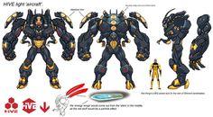 DCUO hive robot by MiaCabrera on DeviantArt Character Model Sheet, Character Concept, Character Design, Gundam, Transformers, Character Turnaround, Aldnoah Zero, Sci Fi Armor, Otaku Mode