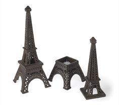 Eiffel Tower tealight #candle holders for a #Paris themed wedding or party.