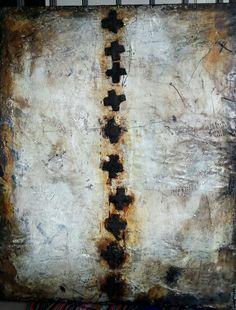 Laura Buhai Frings: Wax, pigments on wood