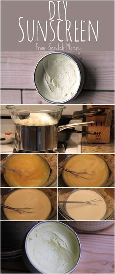 DIY Sunscreen - YOU Can Make This!!! Easy, Effective, Non-Toxic...perfect for you and the family! Learn how YOU can make your own sunscreen! Recipe by Scratch Mommy