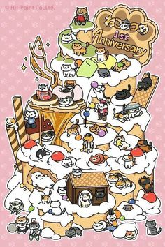 Neko Atsume 1st anniversary was idk when but congrats keep making more kitties