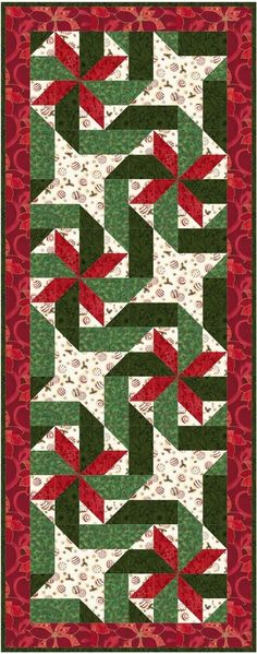 Giftwrapped - Christmas holiday table runner quilt