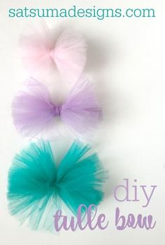 DIY Tulle Bow I wanted to share a super easy DIY Tulle Bow tutorial for bows that we sell like...