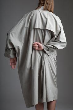 Vintage Men's Issey Miyake Windcoat. Designer Clothing Dark Minimal Street Style Fashion