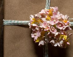 pink paper millinery flowers