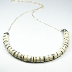 Paper Bead Jewelry Japanese Upcycled Paper Bead Necklace by Tanith on Etsy  $38.00