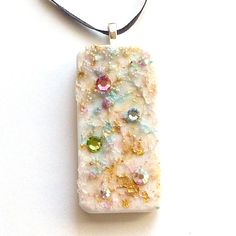 Sparkling snow  Upcycled Domino Pendant Hand by LDphotography, $12.00