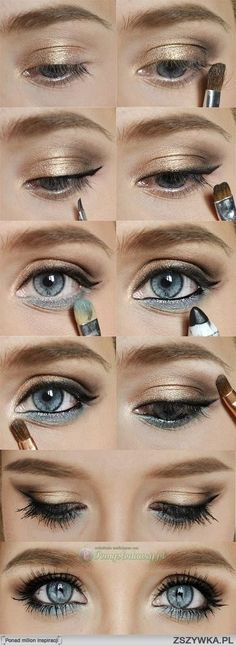 gold make up look