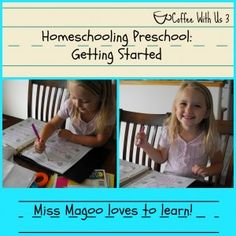 Homeschooling Preschool: What curriculum we're using, and how things are going in the first 2 weeks #homeschool #preschool