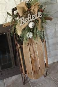 Vintage Sleds make for some of the most magickal decorations for the yuletide season. Believe in the magick!