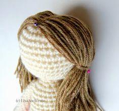 Mesmerizing Crochet an Amigurumi Rabbit Ideas. Lovely Crochet an Amigurumi Rabbit Ideas. Hair Patterns, Crochet Dolls Free Patterns, Crochet Doll Pattern, Crochet Eyes, Cute Crochet, Easy Crochet, Crochet Doll Clothes, Knitted Dolls, Crochet Doll Tutorial