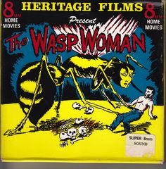 The Wasp Woman. Film Home, Home Movies, Super 8, Movie Reels, Sci Fi Films, Silent Film, Macabre, Werewolf, Wasp