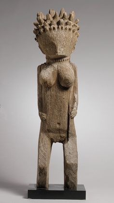 Africa   Standing female figure from Madagascar   Wood   ca. 19th to 20th century