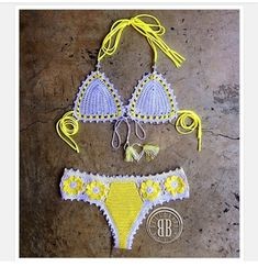 Floratta collection custom crochet bikini by beijobaby on Etsy