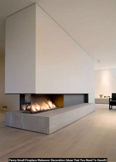 Small Fireplace, Home Fireplace, Modern Fireplace, Fireplaces, Interior Desing, Interior Exterior, Interior Decorating, Interior Ideas, Contemporary Fireplace Designs