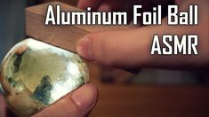 Time for polishing aluminum foil ball in ASMR style. This is so simple! All you need is some brush, wooden block and the rest you do it with your hands :-) Yes! Not only Japanese can do this!  Super polished aluminum foil ball, how to do it in your home.