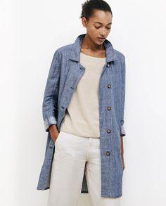 5d2daaa0229994 Poetry - Indigo linen jacket Indigo Clothing, Cashmere Jumper, Indigo Dye,  Dark Summer