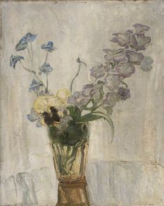 thunderstruck9:  William Nicholson (English, 1872-1949), Flowers in a Vase, 1949. Oil on panel, 41 x 33 cm.