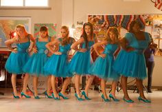 "The Girls in Matching Blue Dresses in Glee Season 4, Episode 11: ""Sadie Hawkins"""