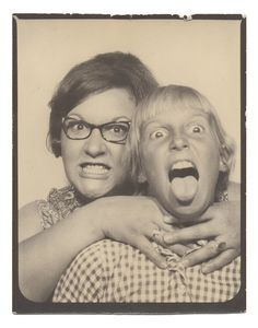 Photobooth Portrait of a Mother and Son, ca 1965.