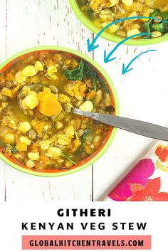 Githeri - Kenyan Vegetable Bean Stew is a hearty one pot meal that is perfect for Meatless Monday. #internationalrecipes #aficanfood #vegan #glutenfree #blackhistorymonthfood #blackhistorymonthrecipes Veg Stew, Vegetable Stew, Vegan Soup, Vegetarian, Gluten Free Recipes, Vegan Recipes, African Recipes, Ethnic Recipes, Gumbo