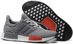Adidas Ultra Boost NMD Couple running shoes Gray red0