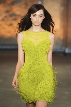 classycolours | Short, Chartreuse green sleeveless party dress