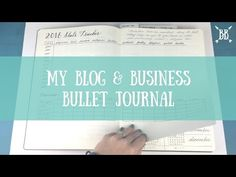 Introducing My Blog & Business Bullet Journal - YouTube
