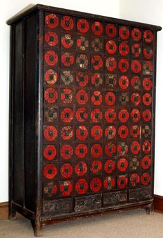 Chinese Apothecary Cabinet, 1800s