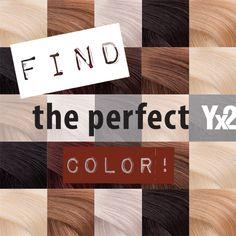 Löydä täydellinen väri itsellesi (9 vaihtoehtoa) ja miksaamalla vieläkin täydellisempi. #yx2 #hiustuuhenne #väri #thinhair #color