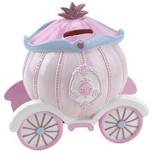Disney Princess Carriage piggy bank. Your favourite piggy bank: http://www.helpmetosave.com/2012/02/piggy-bank/