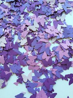 1000 Purple Butterfly Confetti Purple Wedding by FreshlyCutCrafts