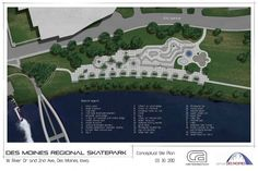 Des Moines Regional Skatepark: The 65,000 square foot project will be one of the largest skate parks in the United States. Phase one is set to begin in late 2012 #Skatepark #Des_Moines #Iowa