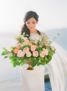 Our gorgeous Lisa and her beautiful flowers captured by 💞🌸 Floris Santorini Wedding, Island Weddings, Event Styling, Destination Wedding Photographer, Beautiful Flowers, Wedding Flowers, Centerpieces, Wedding Decorations, Wedding Inspiration