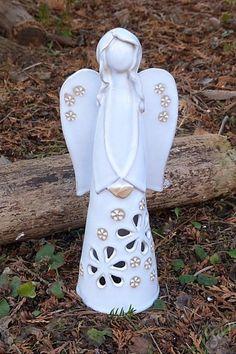 Anděl na svíčku 28 cm