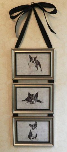 Boston Terrier Dog Picture Collage Wall by BirdieGirlsTreasures, $15.99