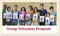 Group volunteering program is a best way of know volunteers skills and their understanding of power.