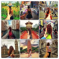 Photographer Murad Osmann takes photos of his girlfriend leading him around the world... Coolest thing!