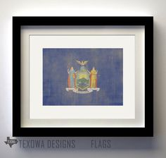 New York Flag Print on Etsy, $17.00